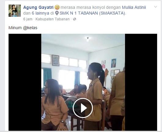 Heboh, Video Cewek SMA Minum di dalam Kelas