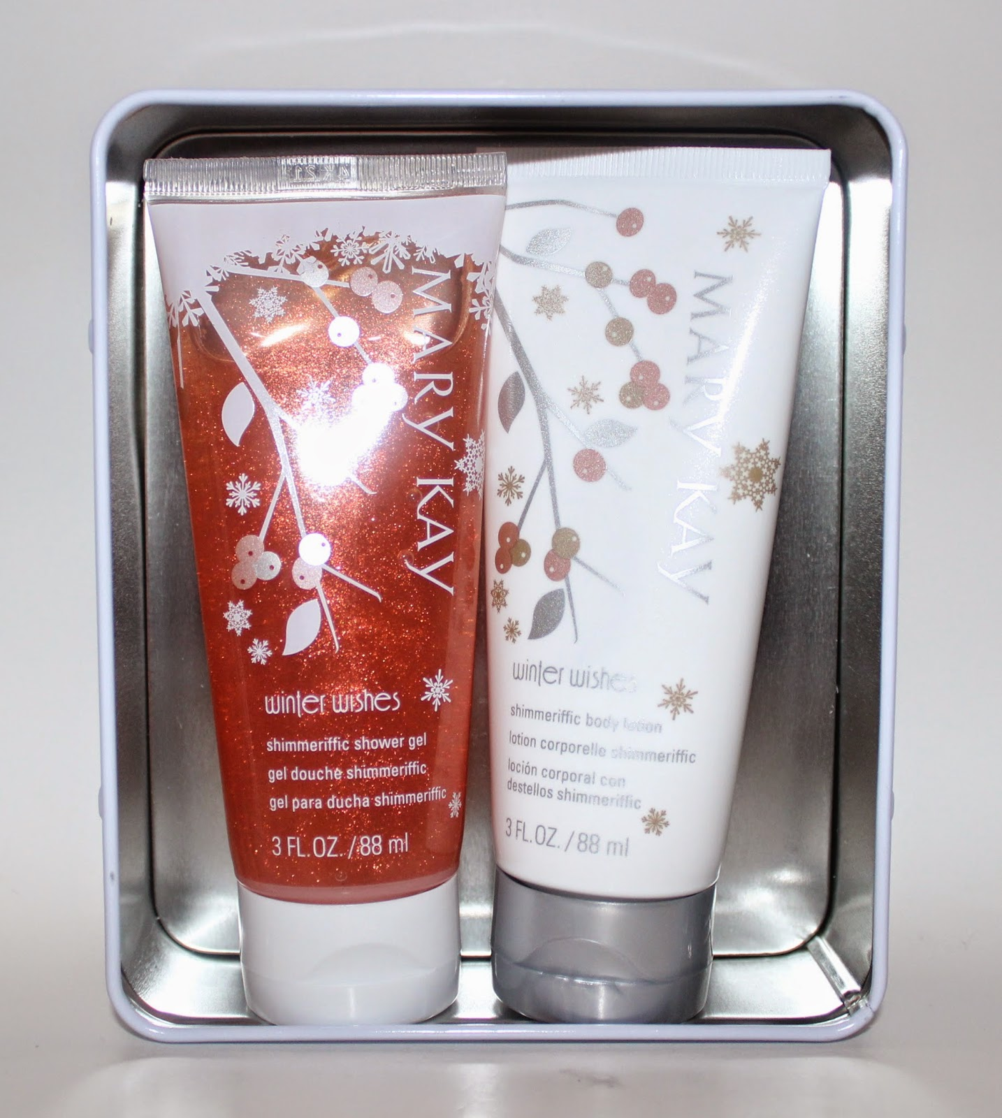 Mary Kay Winter Wishes Shimmeriffic Shower Gel and Body Lotion Set