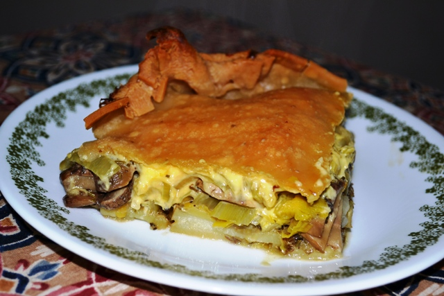 Vegans Have Superpowers: Potato, Leek & Mushroom Pie