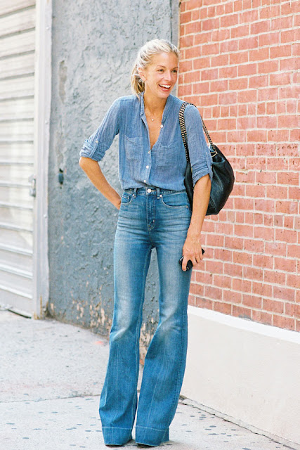 street style - denim on denim