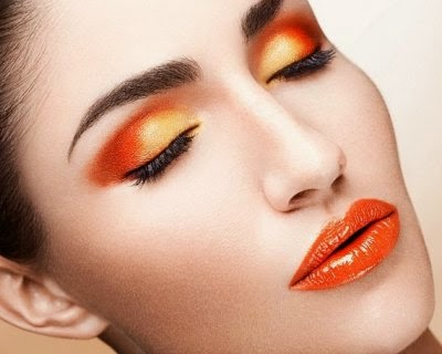 TRUCCO ARANCIONE MAKE UP ORANGE