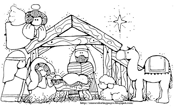 Baby Jesus Nativity Coloring Pages