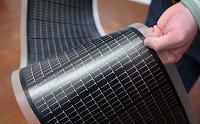 Panel fotovoltaico enrollable.