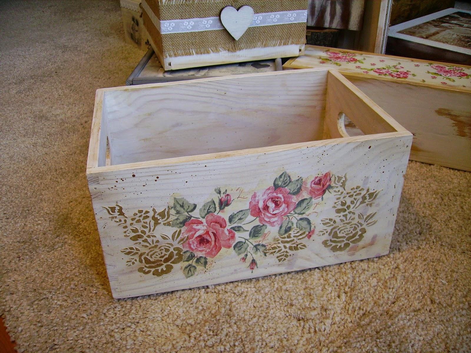 Retazos de madera cajas vintage - Manualidades cajas madera ...