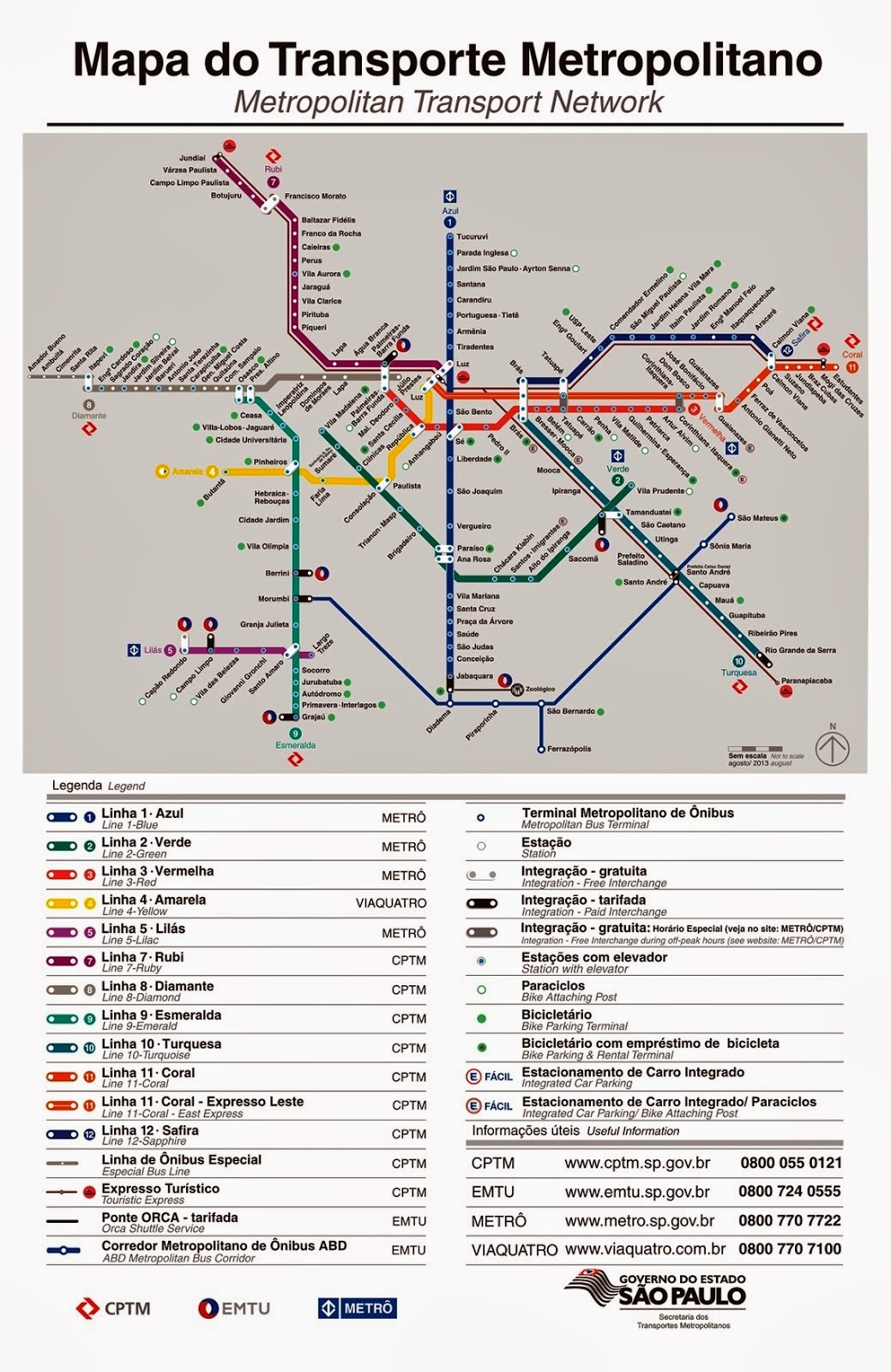 MAPA DO TRANSPORTE METROPOLITANO