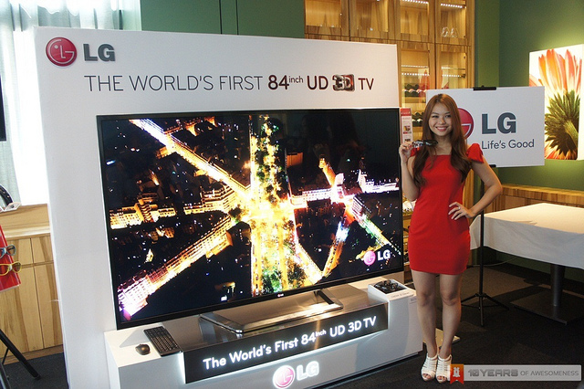LG 84 Inch Ultra HD 3D TV