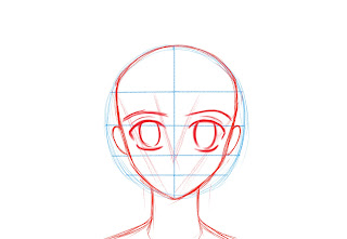 How To Draw Anime Manga Face Step 5