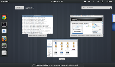 GNOME Shell Themes Ubuntu 11.10
