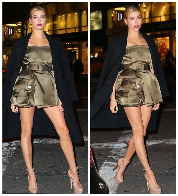 With her growing recognition in WWW, as well as her connection with many youthful fabulous celebrities.  Hailey Baldwin has built a positive respectfully to our opinion and always ready to showing for our eyes what she is doing next.  So, we seemed to be very excited as she turned up to opening boutique of Fendi Madison at New York on Friday, February 13,2015.