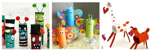 Toilet paper craft,  kids craft ideas, cardboard roll craft ideas