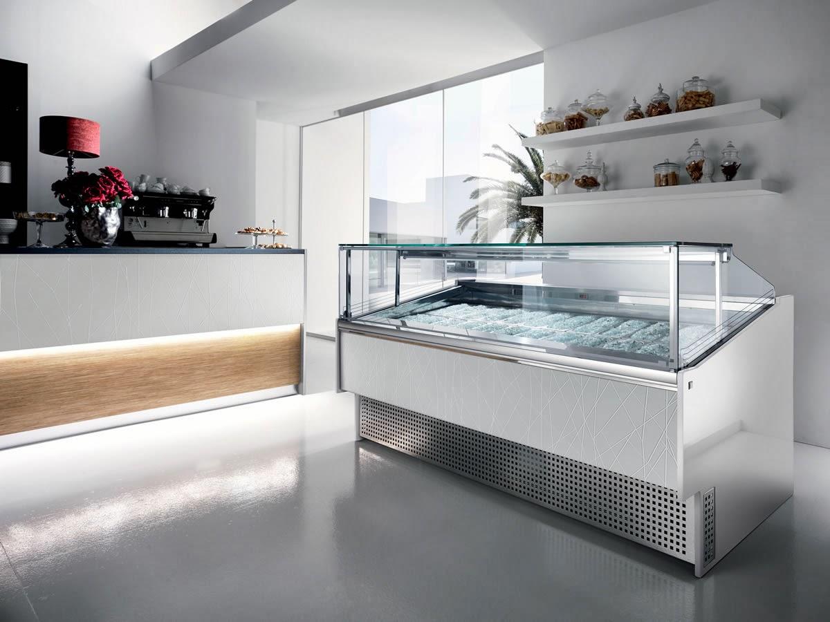 azienda di vetrine pasticceria e gelateria a napoli: vetrina twin ... - Arredamento Interni Gelateria