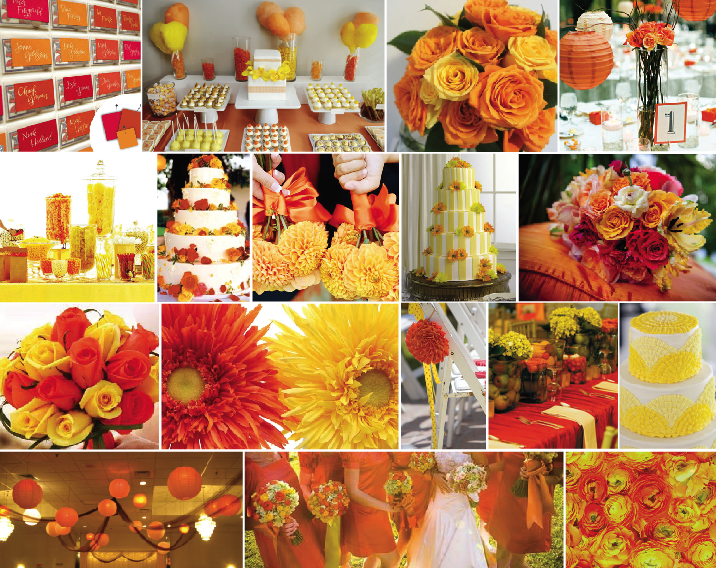 Ideas by andrea summer event color combinations part 2 - Combination of orange color ...