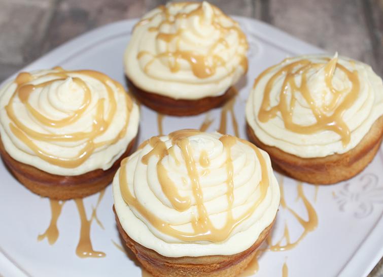 Homemade peanut butter cupcakes