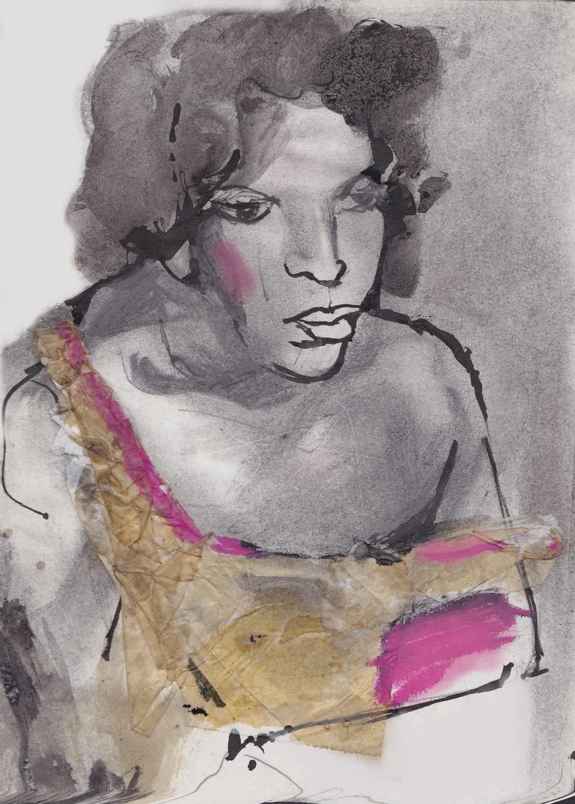 Almudena navarro ilustraciones sobre nan goldin la mujer - Nan goldin il giardino del diavolo ...