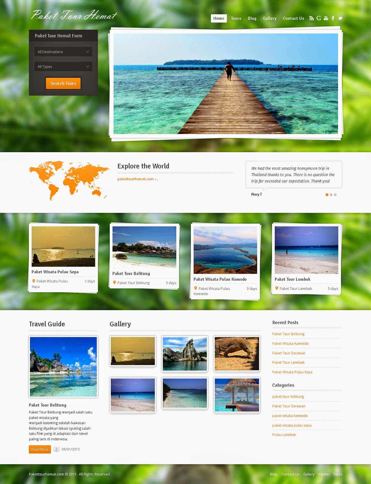 Website Tour Wisata & Travel