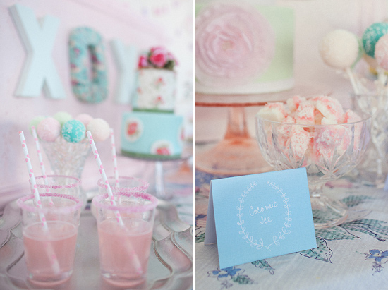 pastel+party+display Polka Dot Bride Pastel Wedding Decor and Interior Inspiration