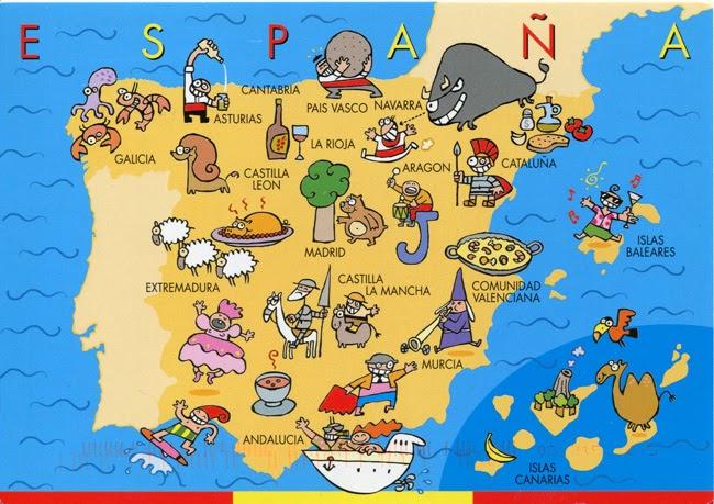 Испания карта рисованная