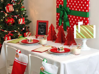 Christmas Table Decoration Red, Part 3