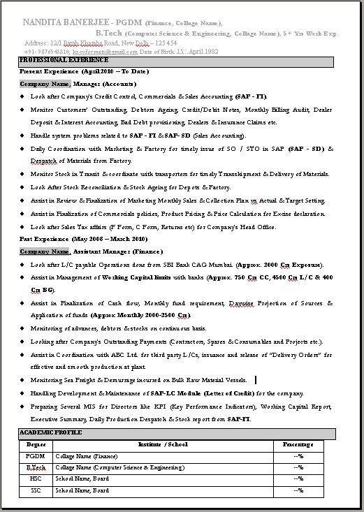 Company Resume Format Download  Resume Format And Resume Maker