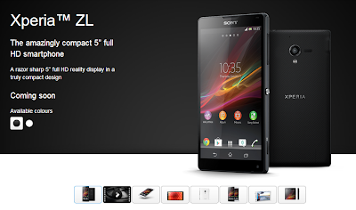 Xperia ZL Coming Soon in India