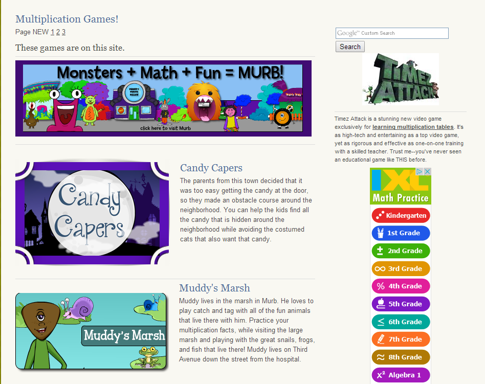 Fun Math Game Websites