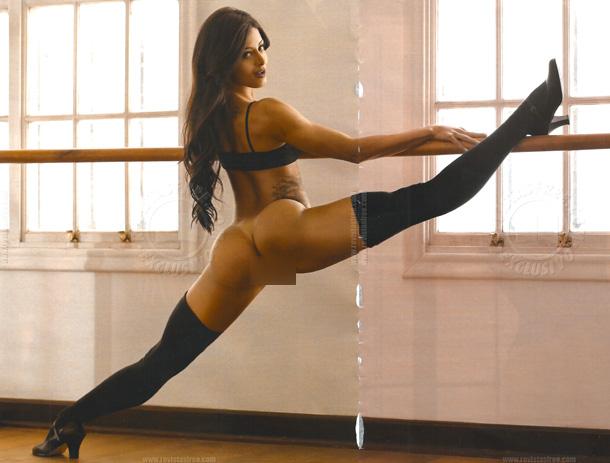"Bailarina Aline Riscado faz ensaio sensual para a revista ""Playboy"""