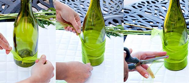 Llena de agua tres cuartas partes de la botella. Si tienes la