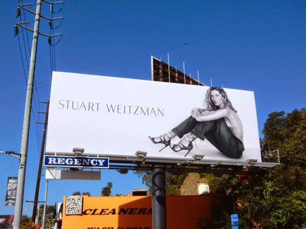 Gisele Bundchen Stuart Weitzman heels Spring 2015 billboard