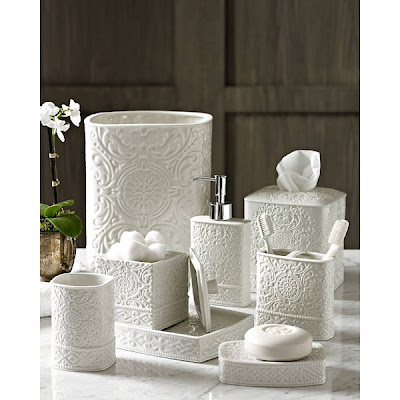 Bedminster Damask Bath Accessories Set from Trump Home Collections