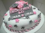 fondant cake : tunang, kahwin, birthday