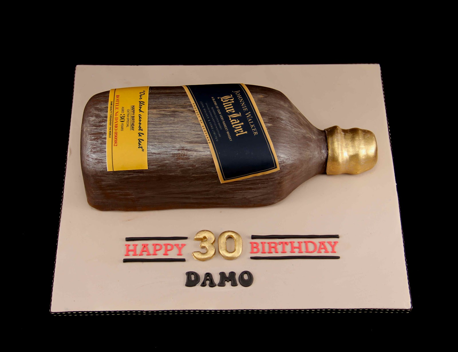 Johnnie Walker Blue Label Cake http://bakerzdad.blogspot.com/2012/09/johnnie-walker-blue-label-cake.html