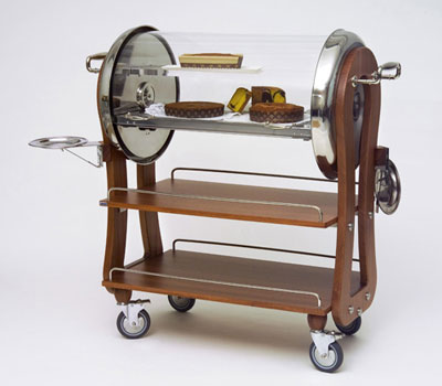 It Has A Variety Of Cheeses Cheese Board And Knife For Cutting The Appropriate Accompaniments Surface Trolley Is