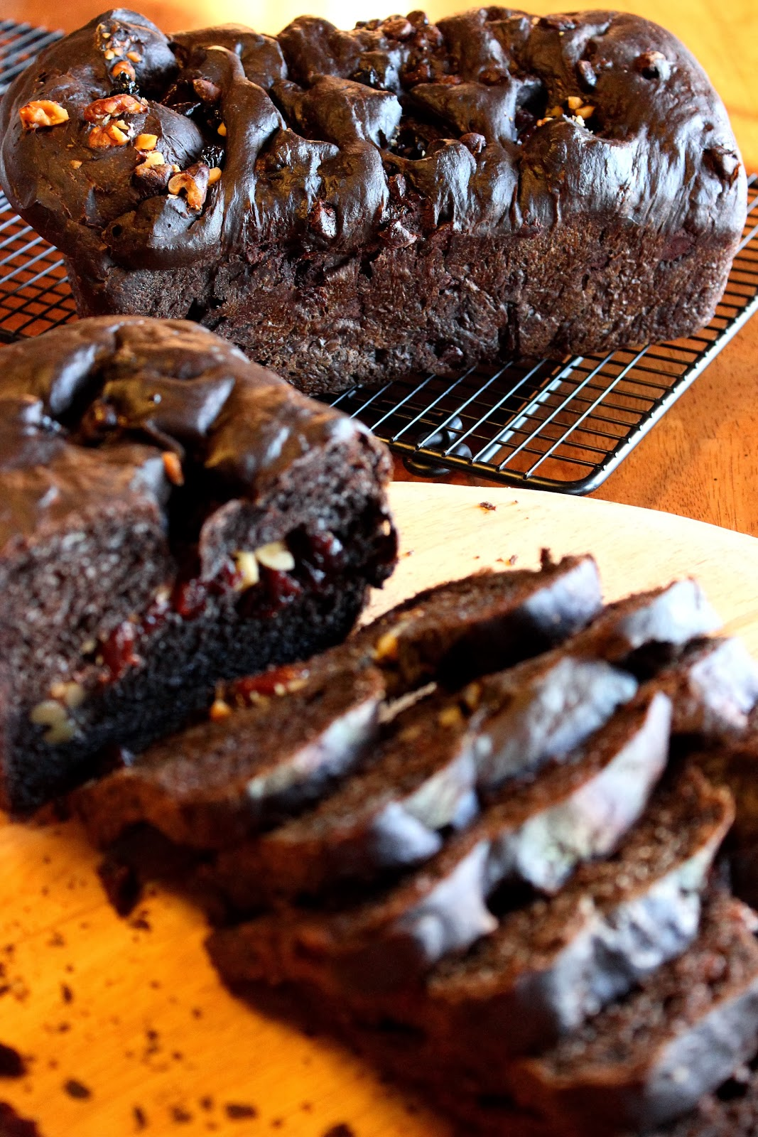 Kudos Kitchen By Renee - Chocolate Cherry Bread with Walnuts Recipe
