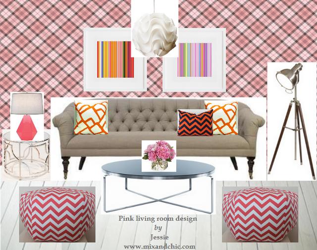 Mix and chic portfolio for Room design mood board