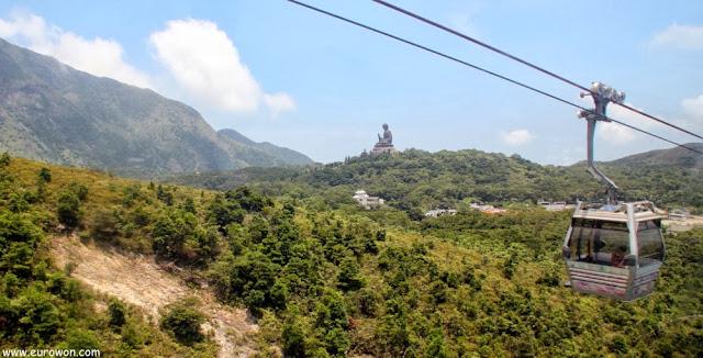 Gran Buda sentado de Tian Tan desde el teleférico