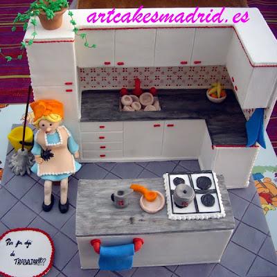 Detalle de la cocina vista desde arriba