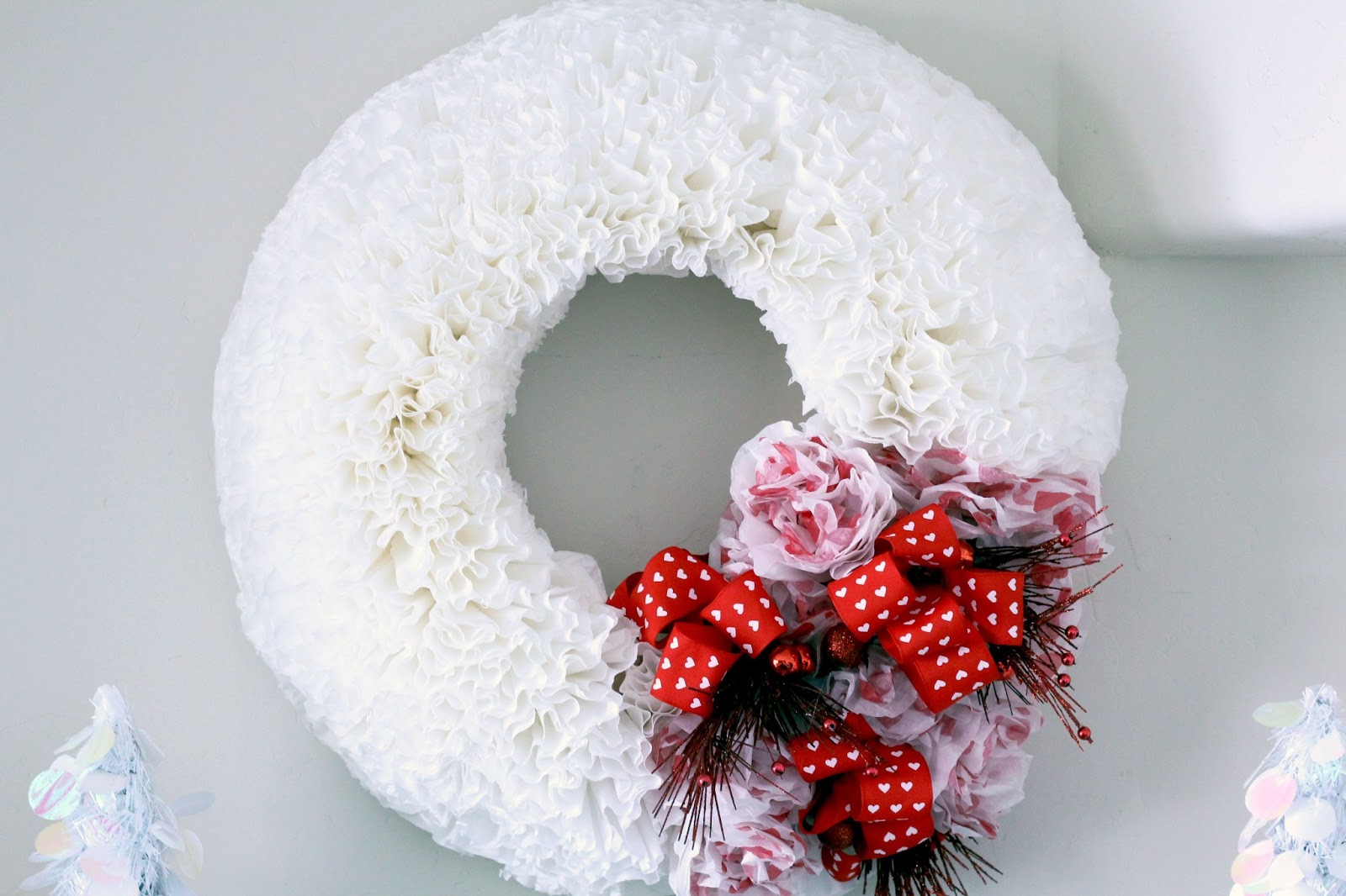 Worth PinningValentines Day Coffee Filter Wreath