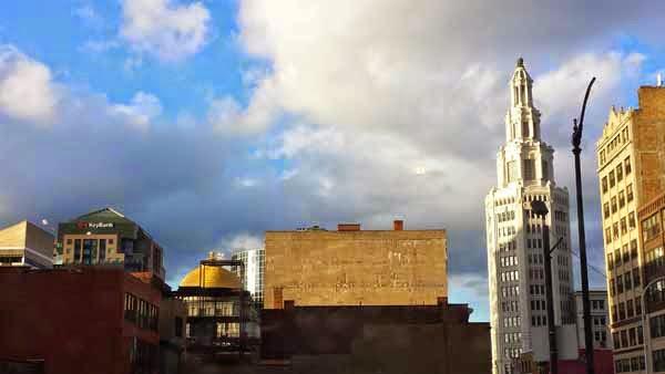 Buffalo skyline.
