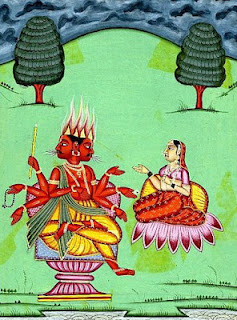 Picture of Goddess Svaha Devi, the Wife of Lord Agni
