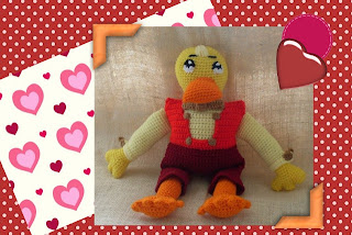 crochet funmigurumi duck toy