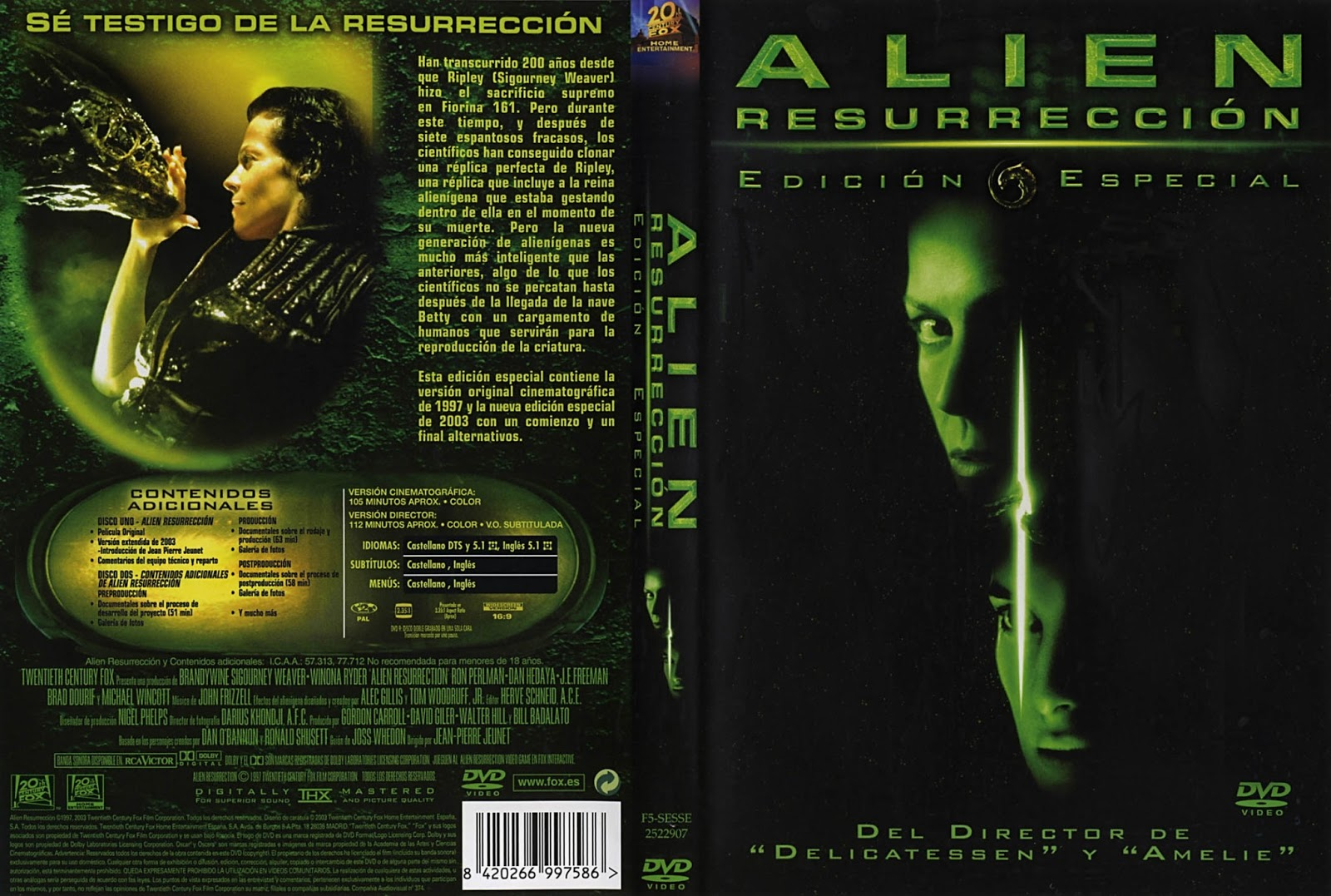 Alien Resurreccion DVD
