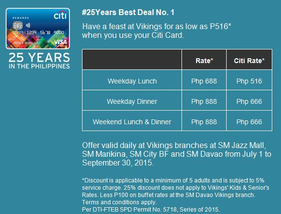 Manila Shopper: Citibank Anniversary Dining Promos 2015 ...