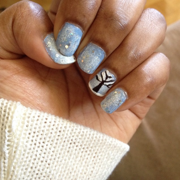 nail art winter nails with nicole by opi polish