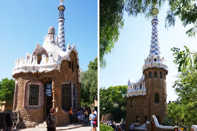 oeuvres de Gaudi au parc Guell