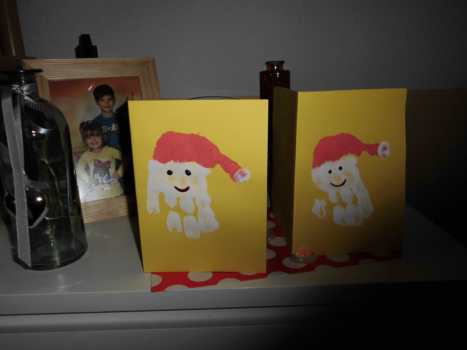 Basteln mit kindern weihnachtskarten selbst gestalten for Weihnachtskarten mit kindern basteln