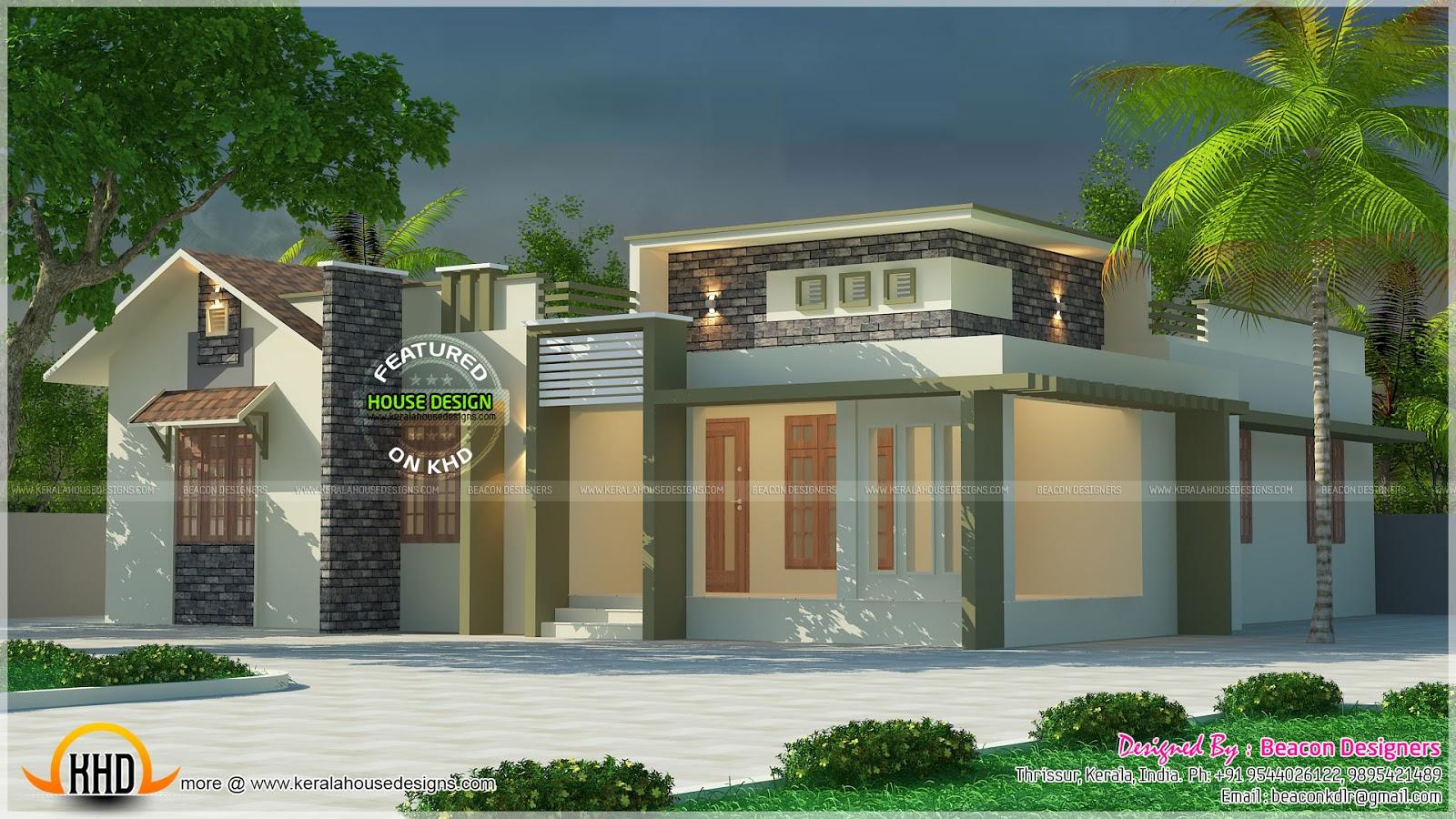 Single floor budget home plan kerala home design and for Single floor house design