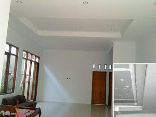 contoh jenis plafon rumah model asbes