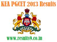 KEA PGCET 2013 Results