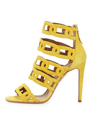 Aquazzura yellow high heeled shoes