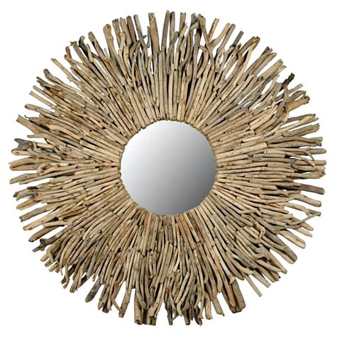 Sunburst Driftwood Mirror